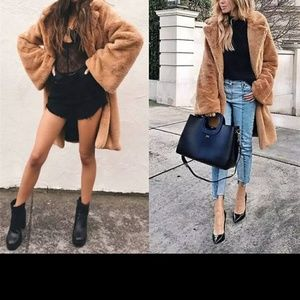 Jackets & Blazers - Mid-length faux fur coat